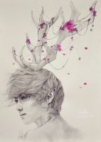 Luhan fanart - Neverland: Portrait of the Forest by e11ie