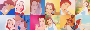 beauty and the beast icons by claudiaV3