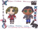Sam Giddings and Josh Washington Rag Dolls by AgentofMischief