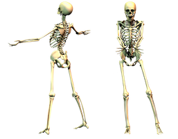 Spooky Skeleton 03 PNG Stock by Roys-Art