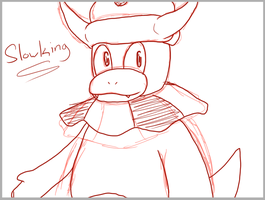 Sketch Trade - Slowking by VedtheFlameDevil