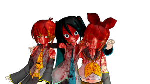 MMD Aren't They GREAT friends? by Aura-Pika