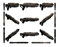 Mass Effect 3, Raider Shotgun Reference. by Troodon80