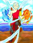 Aang in Avatar State by BenjiPrice