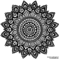 Hand-Drawn Mandala 6 by WelshPixie