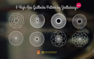 8 High-Res Guilloche Pattern (FREE) by zestladesign