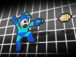 MEGAMAN PIXEL CARTRIDGES_rf6 by randyfivesix