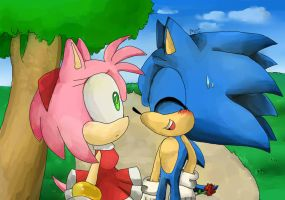 Sonic and Amy by Miiukka