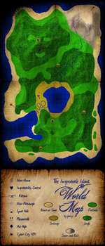 Improbable Island World Map by goocy