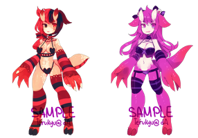 Monstergirl Adopt set 2 - CLOSED by terukyu