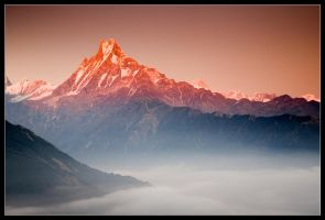 Annapurna Sunset by didumdidum