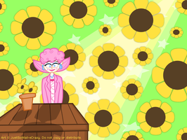 Hey Vince, do you like sunflowers? by MU-Cheer-Girl