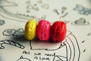 Macarons clay hanger by kittty19