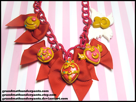 Sailor Moon Brooch Necklace by GrandmaThunderpants