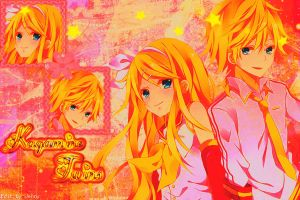 Kagamine Twins Wallpaper by Jenny192