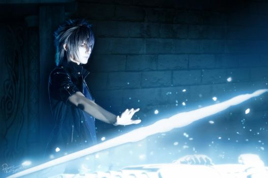 Final Fantasy XV - Noctis - At the tomb by Krisild