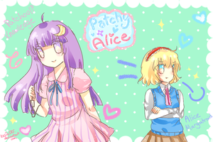 School Patchouli and Alice by yanano
