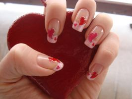 Valetine Nails by DancingGinger