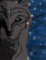 Snowy wolf by ForTheLoveOfWalrus