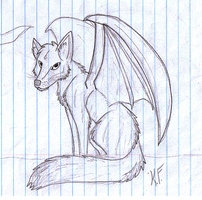 Wolf Dragon Sketch by Little-Painter