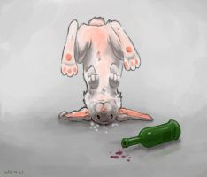 102 drunk rabbit by foice