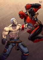 Bryan Fury VS Deadpool by DarioCld