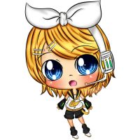 Vocaloid Rin Chibi by EndlessBlueSky