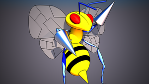 3D Beedrill by Gorithis