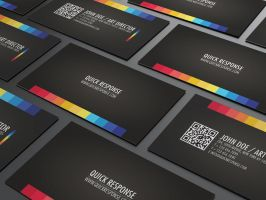 Quick response business card by Lemongraphic