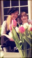 Sisters and tulips by aquadore