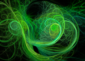 Green Vines Fractal by SunshineEmily