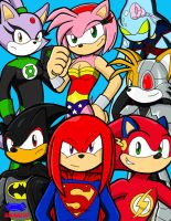 Sonic League of Justice by neyola298