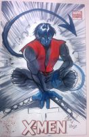 C2E2 Nightcrawler Sketch by JocelynAda