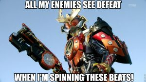 No one is more gangsta than Gaim's Triumphant Arms by stickinaroundforever