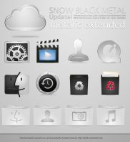 Metalic Snow Icons by sirubico
