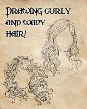 How I draw curly and wavy hair! by CristianaLeone