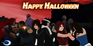 Shattered Heaven Halloween 2013 by Azure-Knight33