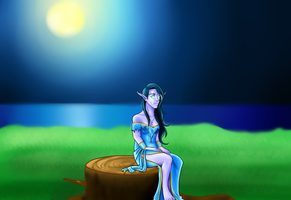 Night Elf Redraw by sociallyakward413