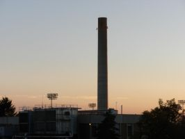 Sunset Chimney by RFHartwell