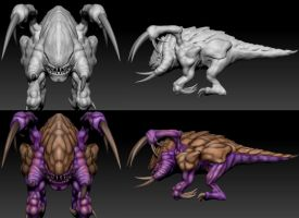 Zergling Dynamesh and Polypaint Insight by Tartauris
