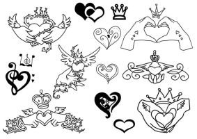 Claddagh Tattoos by Jiang-Ryudo