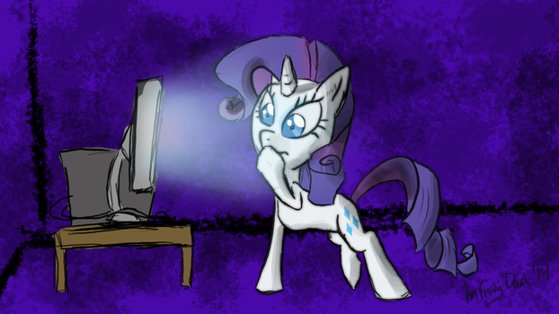 Rarity Uses the Internet by InfinityDash