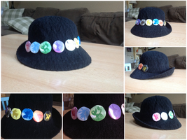 ACSS Gift: Eeveelutions Button Hat by Idellechi