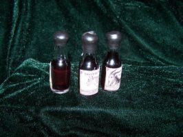 Doll sized GENUINE black licorice Absinthe corked by whimsyandmalice