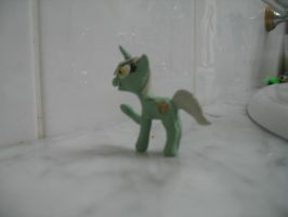 Lyra Heartstring 3D clay figurine side view. by Varano25