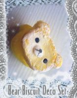 Bear Biscuit Deco Squishies by NekoHouse