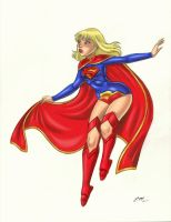 Supergirl New 52 Commission (Colored) by em-scribbles
