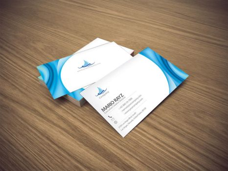 Tsunami wave business card 1 by Lemongraphic
