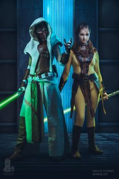 Revan and Bastila by Mowseler