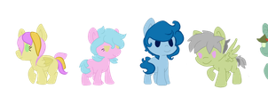 Chibi ponies for sale 4/6 open by InuLover097